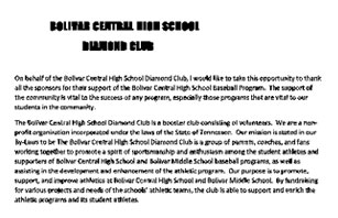 Bolivar Baseball Program