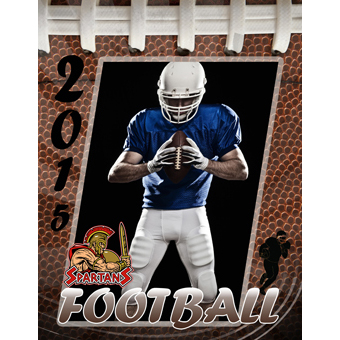 Football book design templates sports program printing for High school football program template